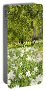 Narcissus In Apple Garden Portable Battery Charger