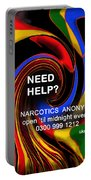 Narcotics Anonymous Poster Portable Battery Charger
