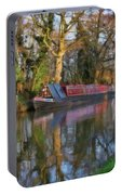 Narrow Boat On Wey Navigation - P4a16008 Portable Battery Charger