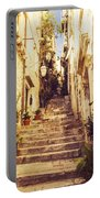 Narrow Street In Old Town Dubrovnik Portable Battery Charger