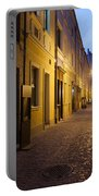 Narrow Street In Old Town Of Wroclaw In Poland Portable Battery Charger