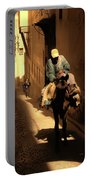 Narrow Streets Fes Male Donkey  Portable Battery Charger
