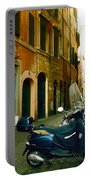 narrow streets in Rome Portable Battery Charger by Joana Kruse