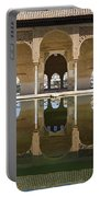 Nasrid Palace Arches Reflection At The Alhambra Granada Portable Battery Charger