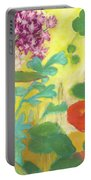 Nasturtiums, Rose Milkweed And Rue Portable Battery Charger