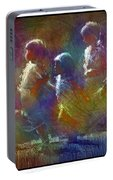 Native American - 5 Girls Dancing In The Moonlight Portable Battery Charger