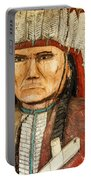 Native American Chief With Pipe Portable Battery Charger