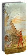Native American Indian Sweat Lodge Portable Battery Charger by Science Source
