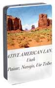 Native American Land, Monument Valley, Navajo Tribal Park Portable Battery Charger