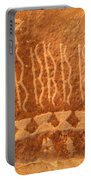 Native American Petroglyph On Orange Sandstone Portable Battery Charger