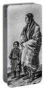 Native American Squaw And Child Portable Battery Charger