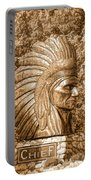Native American Statue Copper  Portable Battery Charger