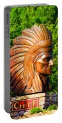 Native American Statue Portable Battery Charger
