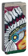 Native American Wall Mural Cheyenne Wyoming Portable Battery Charger
