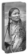 Native American Woman War Chief Pretty Nose Portable Battery Charger