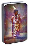 Native American - Young Girl Standing In Doorway Portable Battery Charger