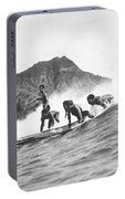 Native Hawaiians Surfing Portable Battery Charger