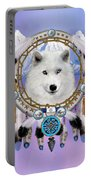 Native Indian Wolf Spirit Portable Battery Charger