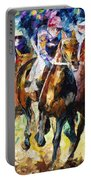 Native Raiser - Palette Knife Oil Painting On Canvas By Leonid Afremov Portable Battery Charger