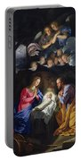 Nativity Portable Battery Charger by Philippe de Champaigne