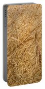 Natural Abstracts - Elaborate Shapes And Patterns In The Golden Grass Portable Battery Charger