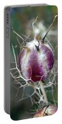 Natural Background With Purple Spiky Bulbs. Portable Battery Charger