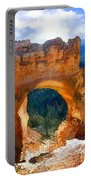 Natural Bridge Arch In Bryce Canyon National Park Portable Battery Charger