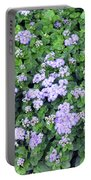 Natural Bush With Purple Small Flowers. Portable Battery Charger