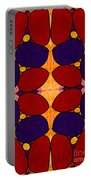 Naturally Dimensional Abstract Bliss Art By Omashte Portable Battery Charger