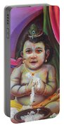 Naughty Little Baby Krishna  Portable Battery Charger