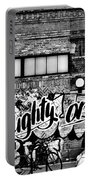 Naughty Or Nice In B W Portable Battery Charger