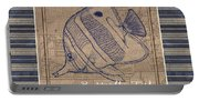 Nautical Stripes Butterfly Fish Portable Battery Charger