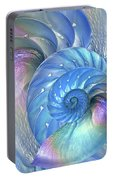 Nautilus Shells Blue And Purple Portable Battery Charger by Gill Billington
