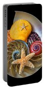 Nautilus With Sea Shells Portable Battery Charger