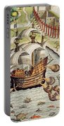 Naval Battle Between The Portuguese And French In The Seas Off The Potiguaran Territories Portable Battery Charger