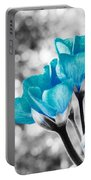 Near Bloom Blue Portable Battery Charger