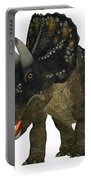 Nedoceratops On White Portable Battery Charger