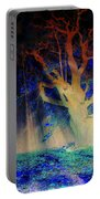 Negative Tree And Sunbeams Portable Battery Charger