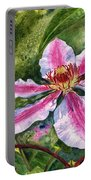 Nelly Moser Clematis Portable Battery Charger