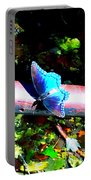 Neon Butterfly Portable Battery Charger