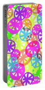 Neon Circles Portable Battery Charger