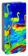 Neon Flamingos Portable Battery Charger