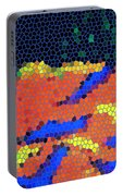 Neon Glow Mosaic Portable Battery Charger