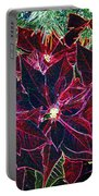 Neon Poinsettias Portable Battery Charger