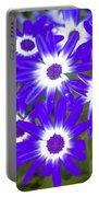 Neon Purple Cineraria Portable Battery Charger