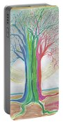 Neon Rainbow Tree By Jrr Portable Battery Charger