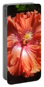 Neon-red Hibiscus 6-17 Portable Battery Charger