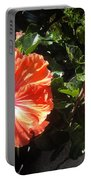 Neon-red Hibiscus Flowers 6-17 Portable Battery Charger