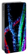 Neon Sparkling Straws Portable Battery Charger by Marc Garrido