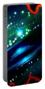 Neon Stars, Green Galaxy And Ufo Portable Battery Charger